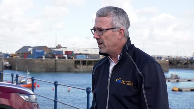 search set to resume for plane of missing footballer emiliano sala; guernsey: ext boats and lighthouse in harbour david mearns interview sot... - guernsey stock videos & royalty-free footage
