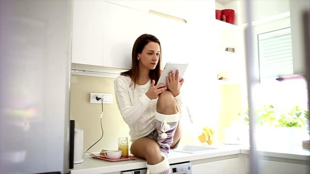Suchen Sie im Internet in Frühstück