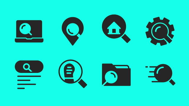 searching concept icons - vector animate - map pin icon stock videos and b-roll footage