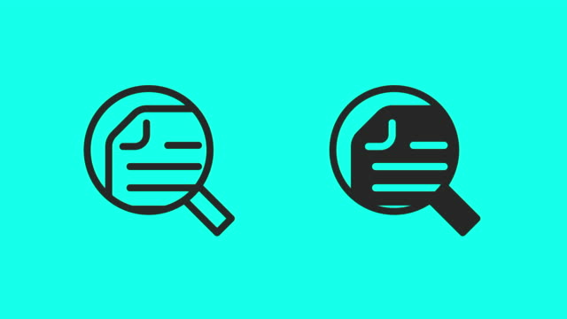 searching document icons - vector animate - exchanging stock videos & royalty-free footage