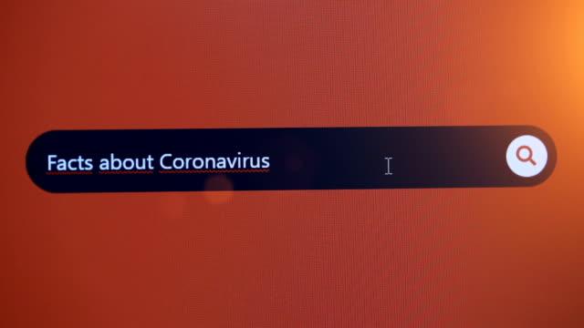 インターネット上のコロナウイルスに関する情報を検索する - bar点の映像素材/bロール