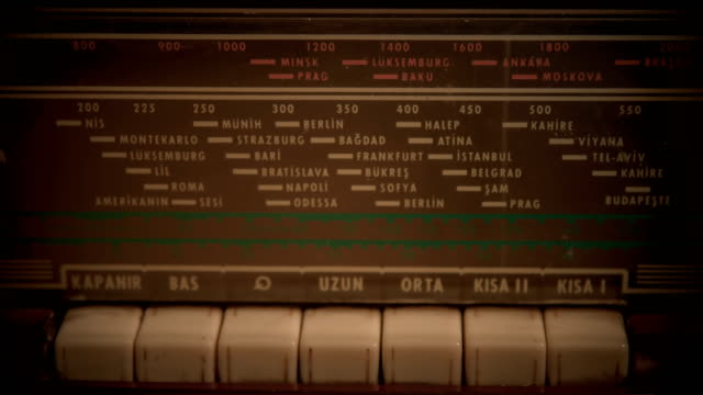 searching frequencies on vintage radio - radio broadcasting stock videos and b-roll footage