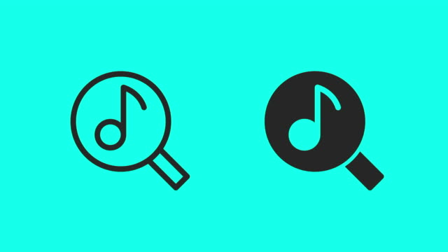 searching music icons - vector animate - electronic organiser stock videos & royalty-free footage