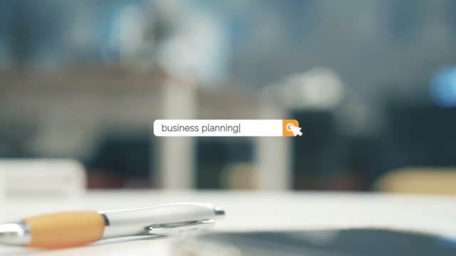 searching the question of business planning on browser search box in 4k resolution - search box stock videos & royalty-free footage