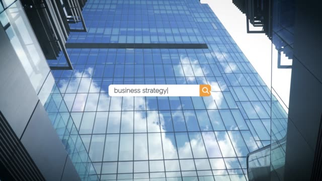 searching the question of business strategy ideas on browser search box in 4k resolution - search box stock videos & royalty-free footage