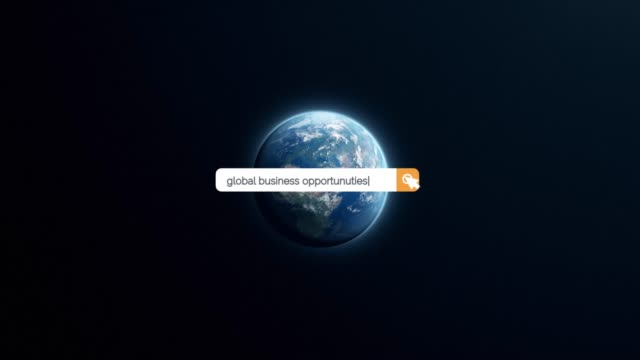searching the question of global business opportunities on browser search box in 4k resolution - search box stock videos & royalty-free footage