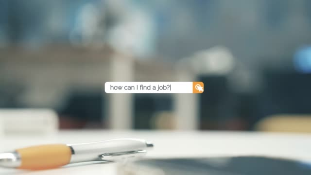 searching the question of how can i find a job on browser search box in 4k resolution - search box stock videos & royalty-free footage