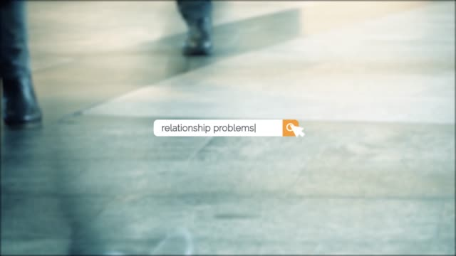 searching the question of relationship problems on browser search box in 4k resolution - search box stock videos & royalty-free footage