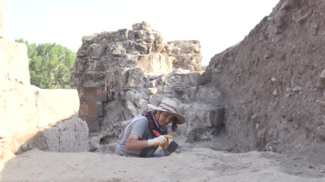 searching through an ancient fortress in eastern turkey turkish students have uncovered inscriptions dating back nearly 900 years the 883yearold... - lake van stock videos and b-roll footage