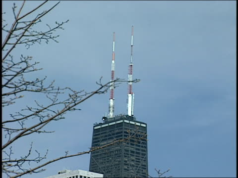 sears tower and skyline - torre sears video stock e b–roll