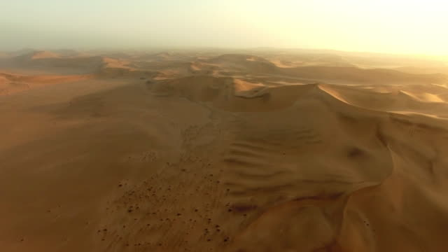seas of sand - namibian desert stock videos and b-roll footage