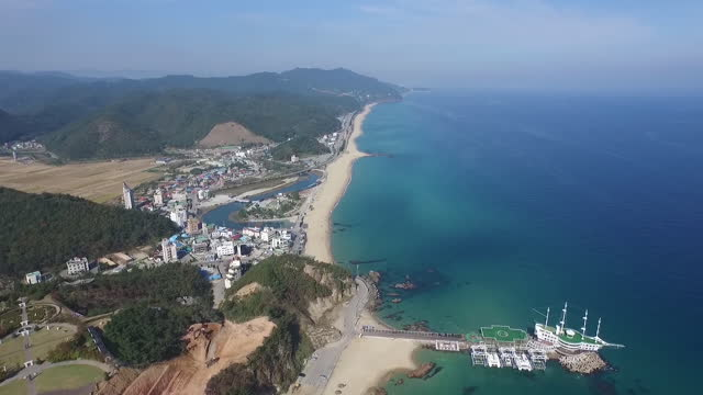 seascape and resort in jeongdongjin county / gangneung-si, gangwon-do, south korea - personal land vehicle stock videos & royalty-free footage