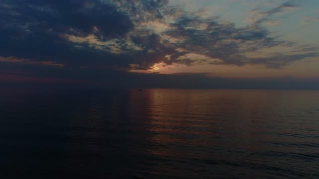 seascape at overcast sunset - overcast stock videos & royalty-free footage