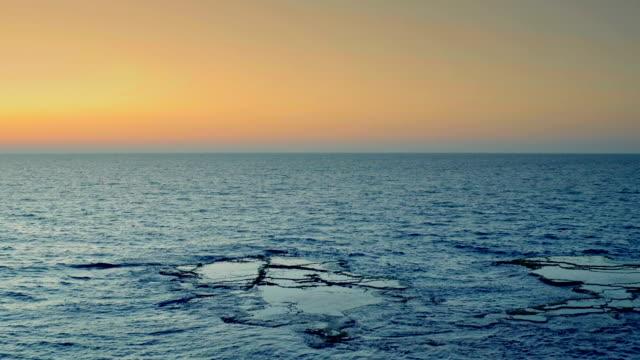 Vista do mar ao pôr do sol. Israel