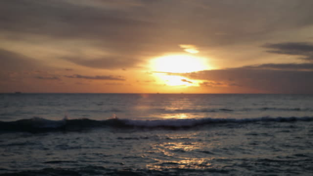 stockvideo's en b-roll-footage met seascape at sunset, marbella, spain - infaden