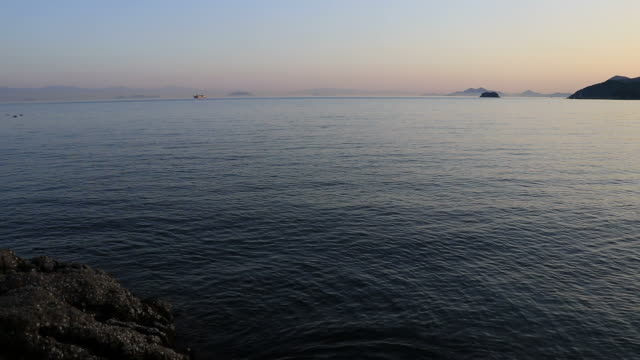 seascape at twilight - yuko yamada stock videos & royalty-free footage