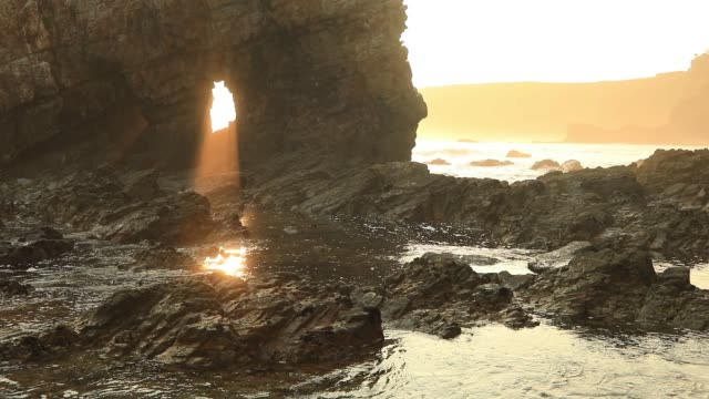 Seascape in Portizuelo beach, Asturias coast, North Spain
