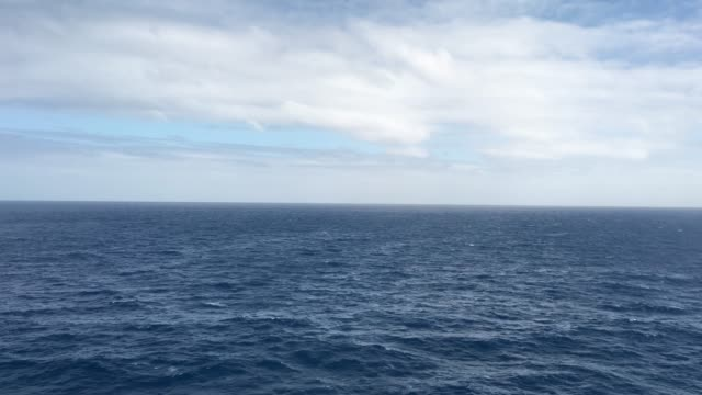 Seascape of Bass Strait with sky