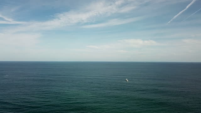 seascape of haeundae beach / haeundae-gu, busan, south korea - tracking shot stock videos & royalty-free footage