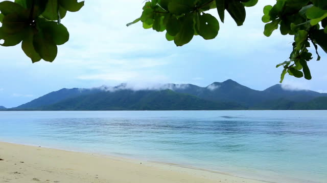 seascape of koh chang beach - koh chang stock videos and b-roll footage