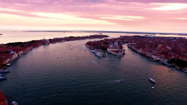 Seascape of San Giorgio Maggiore at sunset