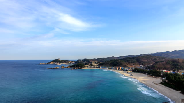 Seascape Of Yonghwa Beach At Jangho Harbor High-Res Stock Video Footage -  Getty Images