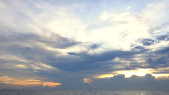 seascape on the beach at sunset - day and night image series stock videos & royalty-free footage