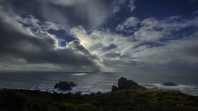 seascape, oregon coast - oregon coast stock videos & royalty-free footage