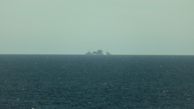 Seascape With Distant Naval Ships