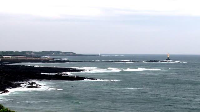 Seascape with Lighthouse from Jeju Island