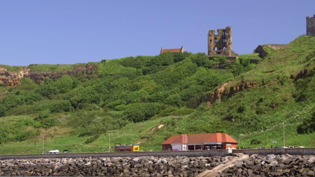seashore & castle - circa 12th century stock videos & royalty-free footage