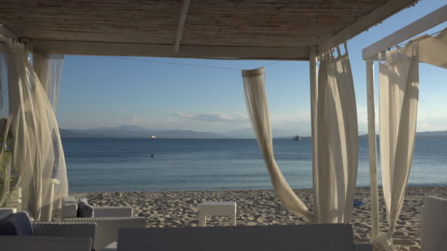 seaside beach pavilion - sassari stock videos & royalty-free footage
