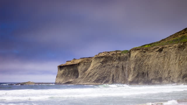 Seaside Cliffs on California Coast - Time Lapse