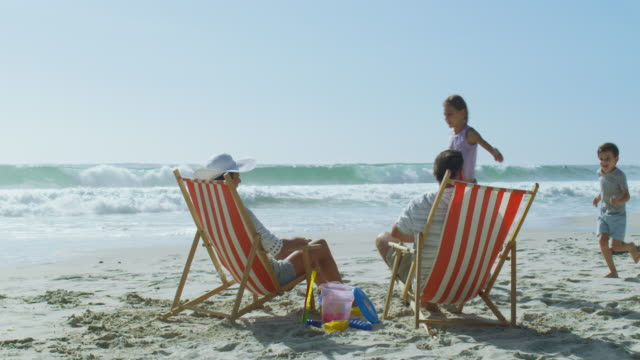 seaside fun and sun - outdoor chair stock videos & royalty-free footage