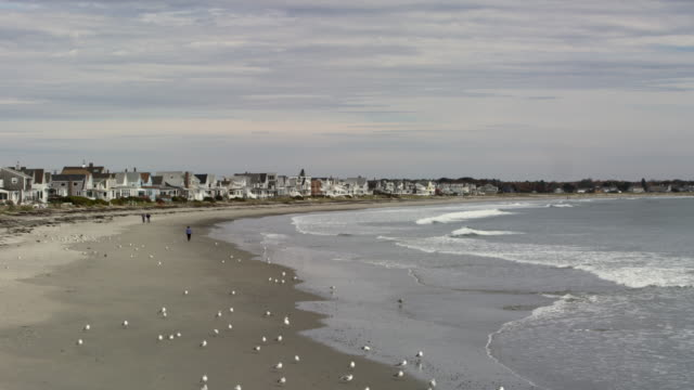 seaside houses in moody maine - eastern usa stock videos & royalty-free footage