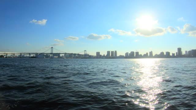 東京湾のシーサイドパーク - 沿岸点の映像素材/bロール