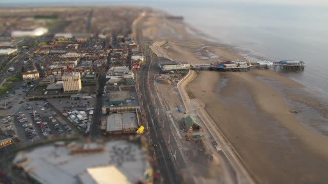 seaside time-lapse and blackpool pleasure beach 2 - blackpool stock videos & royalty-free footage