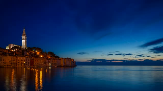 Seaside view at the old town of Rovinj, Croatia