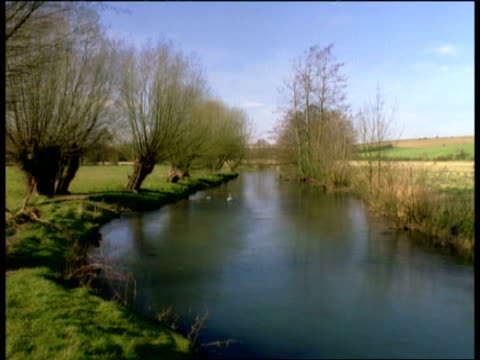 seasonal series lapse-time time lapse cotswold scene. river windrush. burford, oxfordshire - windrush river stock videos and b-roll footage