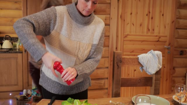seasoning the salad - ski holiday stock videos & royalty-free footage