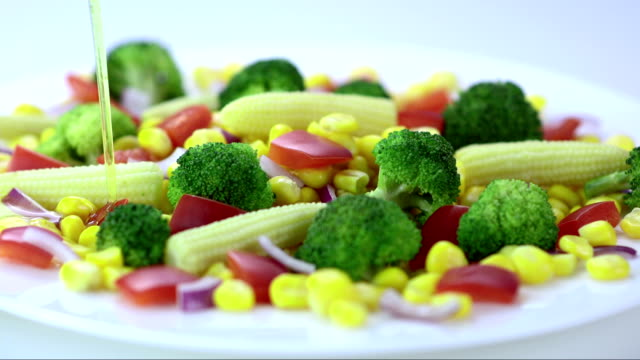 Seasoning The Vegetables (Super Slow Motion)