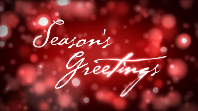 Season's Greetings auf Rot