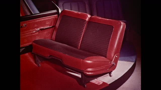 1963 amc seat and door panel samples - 1963 stock videos & royalty-free footage