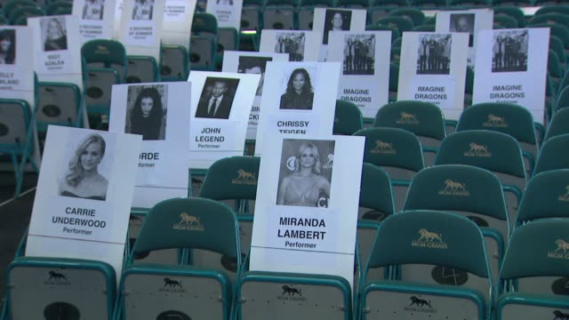 vidéos et rushes de atmosphere seat cards billboard music awards 2014 rehearsals day 1 on may 16 2014 in las vegas nevada - billboard music awards