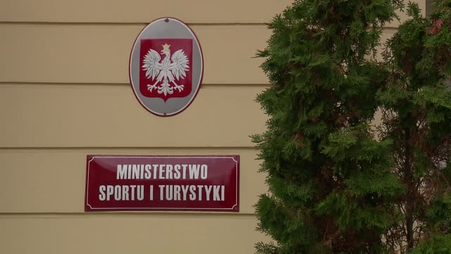 stockvideo's en b-roll-footage met seat of ministry of sport and tourism - informatiebord