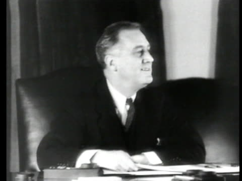 seated at desk talking to someone beyond his desk . - 1935 stock videos & royalty-free footage