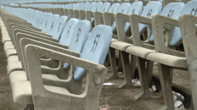 "seating chairs of estadio centenario stadium / montevideo, uruguay"" - montevideo stock-videos und b-roll-filmmaterial"