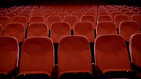 seats in theater performance center - stage performance space stock videos & royalty-free footage