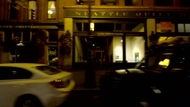seattle city xiv synced series right view driving process plate - establishing shot stock videos & royalty-free footage