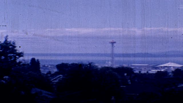 1962 seattle cityscape - puget sound stock videos & royalty-free footage